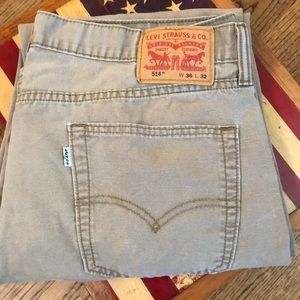 "LEVI'S  514 Khaki Jeans 36""x32"""